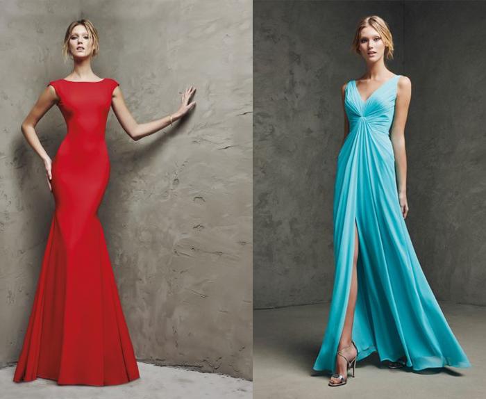 Tipos de vestidos largos